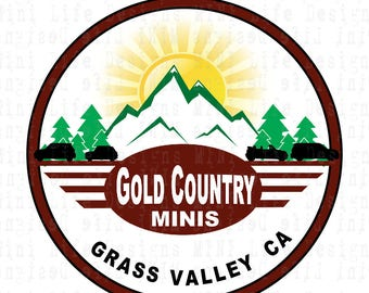 Grill Badge- Gold Country MINIs group