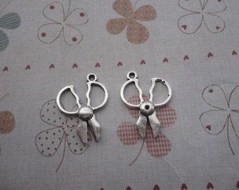 20pcs 27x20mm scissors/scissor Antique Silver Retro Pendant Charm For Jewelry Pendant