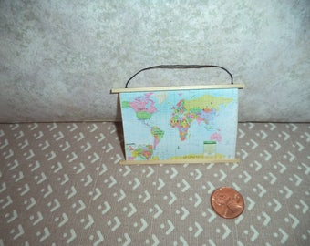 1:12 scale dollhouse modern hanging map