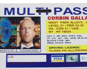 Fifth Element Multipass Corbin Dallas Prop ID Badge