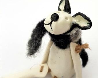Herr Monty. Hund Figur