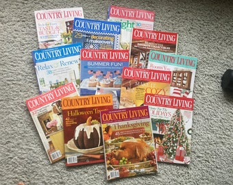 2006 Country Living Magazines, Vintage