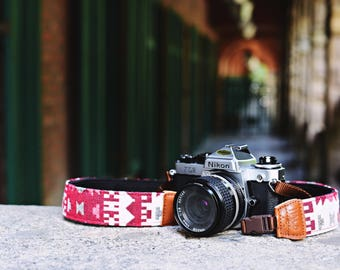 iMo Red house camera strap suits for DSLR / SLR with quick release buckles