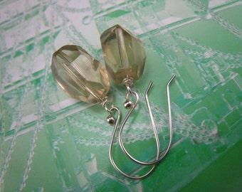 lemon quartz dangle earrings