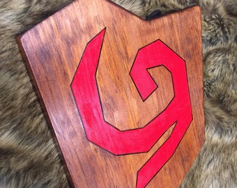 Deku Shield (Young Link's Shield), The Legend of Zelda (Wood, White Pine)