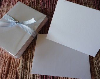 Blank Cards and Envelopes White  Set of 12