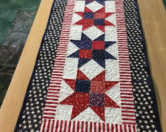 Stars 'n Stripes Quilted Table Runner