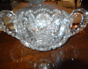 CUT GLASS SUGAR Bowl