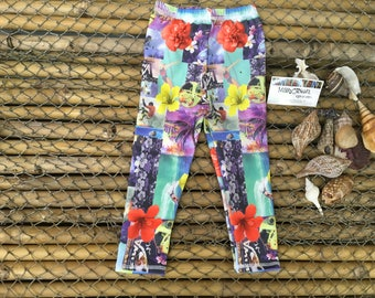 24 months picture Hawaii spandex pants, kids clothes, baby items, leggings, toddler bottoms