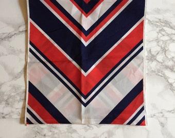 three tone scarf | 60s geomtric scarf
