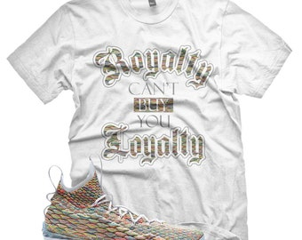 New White ROYALTY T Shirt for Lebron 15 Fruity Pebbles XV MultiColor