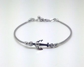Men's Silver bracelet 925, jewels, bangle, rhodium, mens silver bracelets, jewelry, gifts for him, Italy made