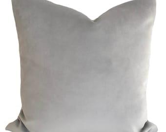 Gray pillow cover, Velvet pillow, Gray throw pillow, Decorative pillow, Accent pillow, Grey cushion cover, Shams, 13 sizes available