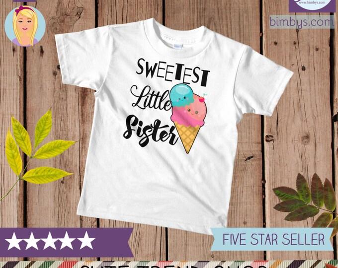 Little sister kids t-shirt , Kawaii Food Little Sister T-Shirt, Little Sister Tee, Siblings Shirt, little sister outfit, little sis