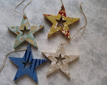 Wood and paper stars