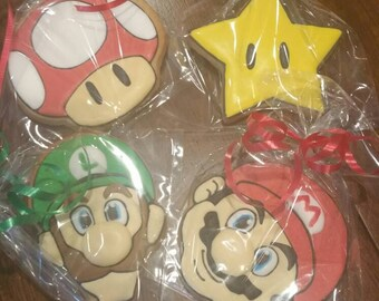 SUPER Mario cookies (12 cookies)