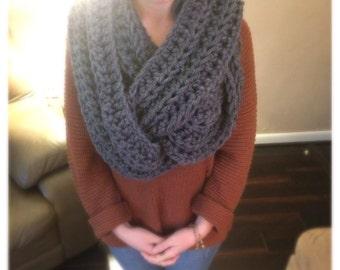 Ultra plush long infinity scarf