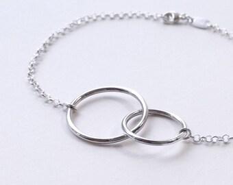 Dainty sterling silver o-ring bracelet. Submissive jewelry. Delicate silver bracelet. Bdsm jewelry. Circle bracelet. Scandinavian jewelry.