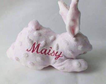 Bunny nursery decor | Personalised rabbit, Personalised bunny rabbit, Rabbit gift for girls, Bunny teddy, Rabbit soft toy, Baby shower