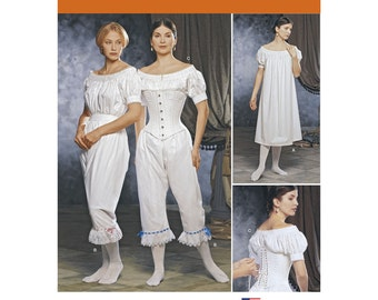 1139 Simplicity Fashion Historian Misses' Civil War Undergarments, Victorian Under Garments, Bloomers, Night Dress, Corset, Drawers, Chemise