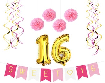 Sweet 16 Birthday Party Pack – Sweet Sixteen Decorations, Party Favors, Supplies, Gifts, Themes and Ideas
