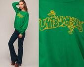 Untouchables Shirt 80s Sweatshirt Angel + Devil Shirt Retro Print Slouchy Pullover Vintage Medium Large