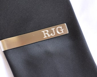 Custom Tie Bar Clip, Custom Tie Clip, Personalized Tie Bar, Tie Tack, Personalized Wedding Gift, Gifts for Usher, Wedding Favors, Groom Gift