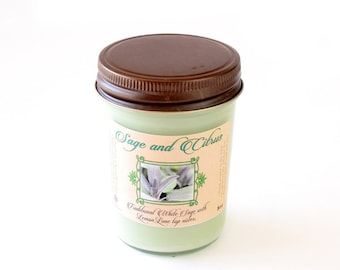 Sage and Citrus - Natural Soy Candle - 8 oz
