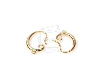 ERG-101-MG/4Pcs-Simple Line Hook Ear Wires-French Hook Earrings-Fishhook-Earring Findings