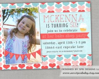 Birthday Party Invitation -- Bake Shop