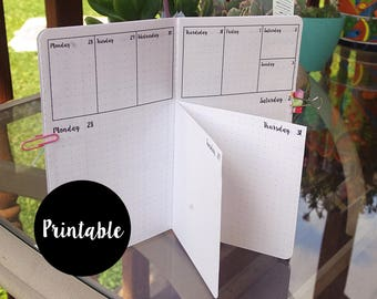 Pocket, Dutch Door, April, 2018, Calendar, TN Insert, Traveler's Notebook insert, weekly, daily, Printable