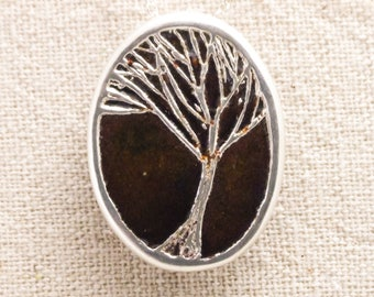 Shirley Jackson Tree: Fine silver and enamel