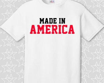 Made in America - 4th of July Graphic Tee - Customize You Own
