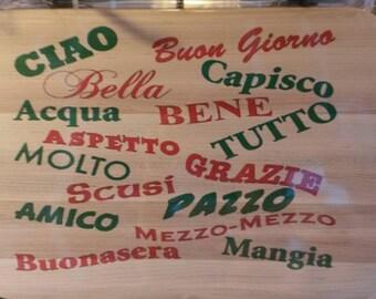 Italian Words Board