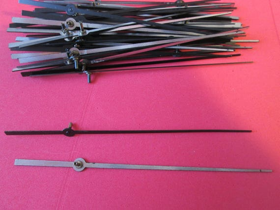 "48 New 4 1/4"" Black Aluminum Clock Second Hands  for your Clock Projects, Steampunk Art, Jewelry Making..."