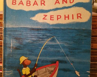 Vintage Children's Book, Babar and Zephir/ The Tale of Squirrel Nutkin