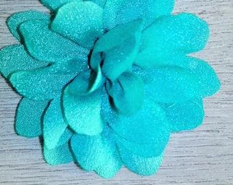 Green Flower organza fabric