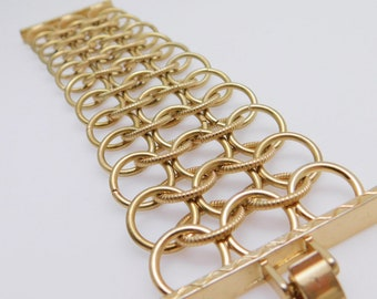 Wide Chain Bracelet Vintage Jewelry Chain Maille