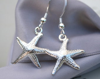 Sterling Silver Starfish earrings with Sterling earwires