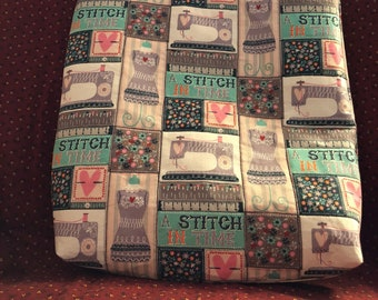 A stitch in time tote bag