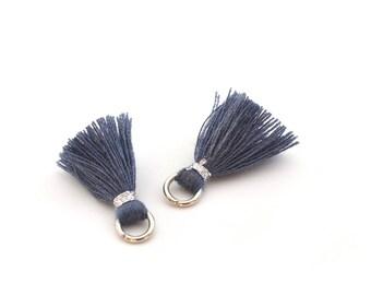 2 small PomPoms 2 cm / Blue P88