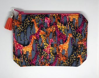Coin Purse, Card Pouch, Zipper Pouch, Purse, Giraffe Purse, Giraffes, Psychedelic Giraffe Purse, Mother's Day Gift