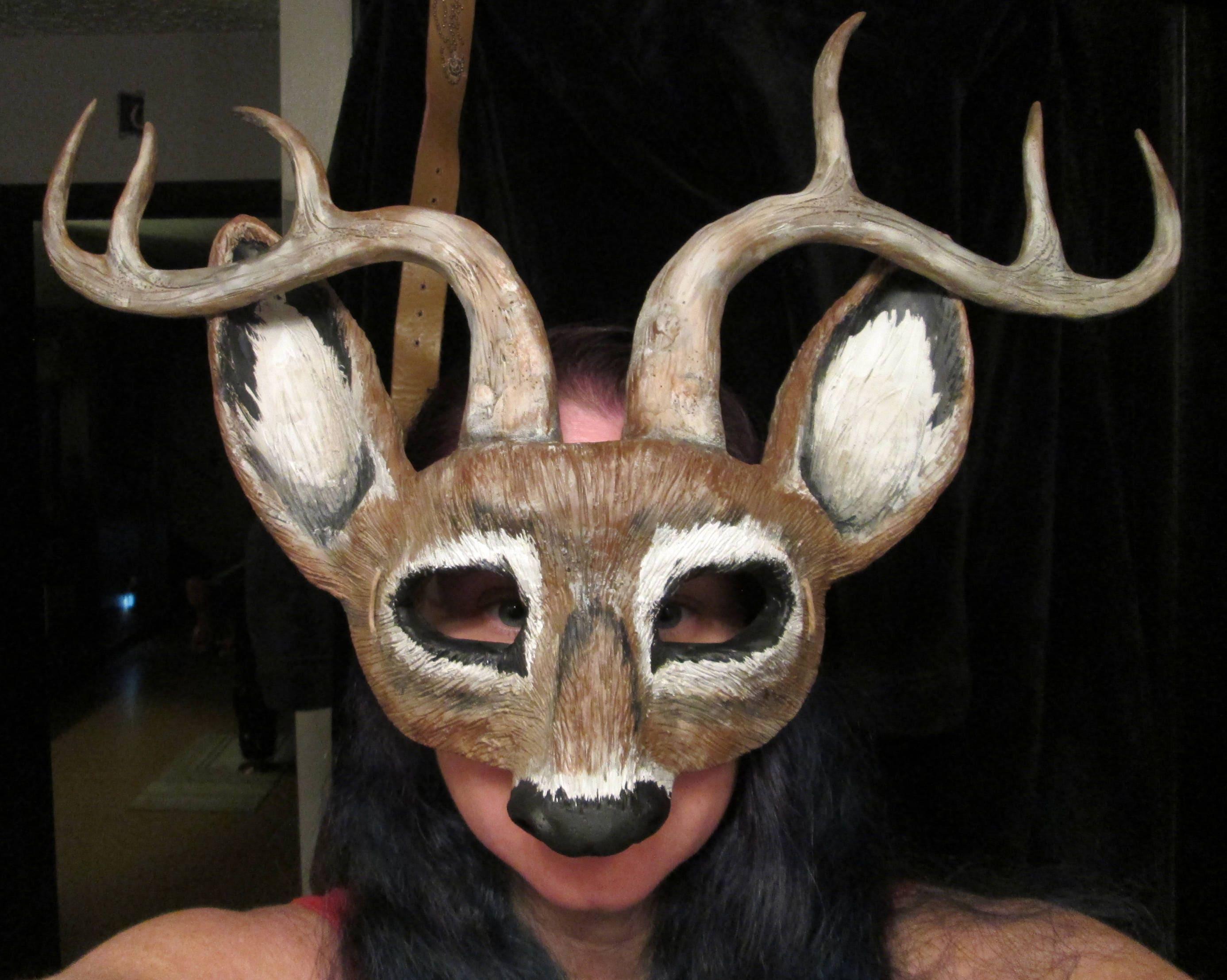 Hirsch-Maske Geweih Optionen Kostüm Maske wählen Sie Rehlein