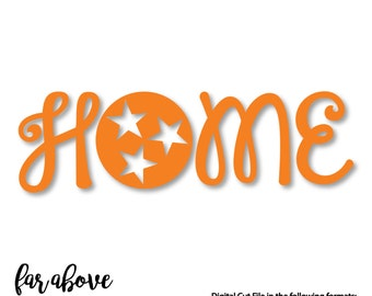 Home Tennessee Tri-Star SVG, DXF, PNG, Jpg Digital cut file for Silhouette or Cricut - tn Vols Volunteers University