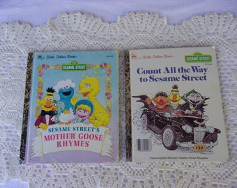 Sesame Street Little Golden Books Counting All the Way to Sesame St Mother Goose Rhymes