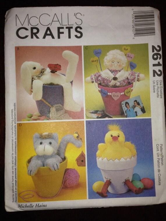 McCalls Crafts Sewing Pattern 2612 Flower Pot Pals
