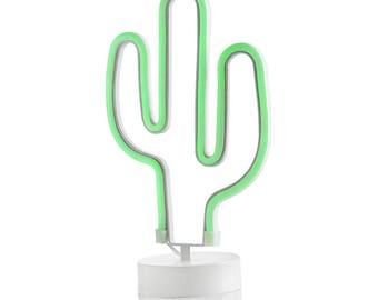 Cactus table lamp green Led 17x10x31 cm