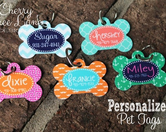 Pet Tag,Personalized Dog Bone, ID Tag, Custom Pet Name Tag, Pet Gift,Personalized Pet Tag, Pet ID, Design Your Own Tag, Pet Name,Made in USA