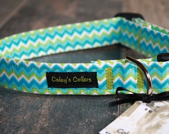 "Dog Collar, Dog Collars, Boy Dog Collar, Girl Dog Collar, Male Dog Collar, Female Dog Collar, Chevron Dog Collar, ""The Blake"""
