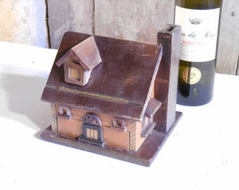 A French Vintage Wooden House Jewellery box